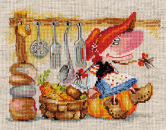 Cross Stitch Kit The Keeper of Vegetable Pantry - Alisa