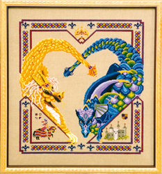 Cross Stitch Chart Dragon Heart - Black Swan Designs