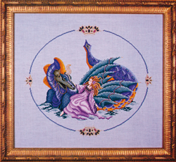 Cross Stitch Chart Dragon Lake - Black Swan Designs