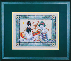 Cross Stitch Chart Snow Date - Black Swan Designs