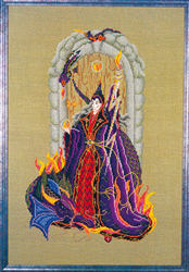 Cross Stitch Chart Lucien, Wizard of Fire - Black Swan Designs