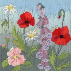 Borduurpakket Rose Swalwell - Long Stitch Seasons - Summer - Bothy Threads