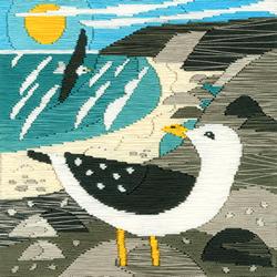 Cross stitch kit Matt Johnson - Seagulls - Bothy Threads