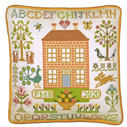 Petit Point borduurpakket Bothy Design - Orchard House Tapestry - Bothy Threads