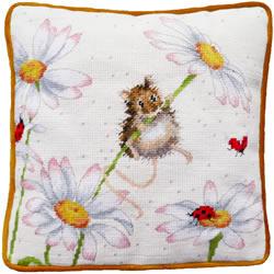 Petit Point borduurpakket Hannah Dale - Daisy Mouse Tapestry - Bothy Threads