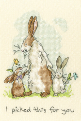 Cross stitch kit Anita Jeram - I Picked This For You - Bothy Threads