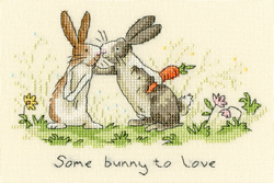 Cross stitch kit Anita Jeram - Some Bunny To Love - Bothy Threads