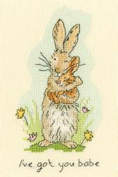 Cross stitch kit Anita Jeram - I've Got You Babe - Bothy Threads