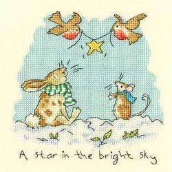 Cross stitch kit Anita Jeram - Star in the bright sky - Bothy Threads