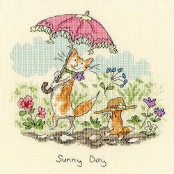 Cross stitch kit Anita Jeram - Sunny Day - Bothy Threads