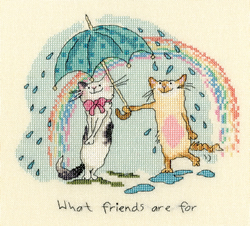 Cross stitch kit Anita Jeram - What friends are for - Bothy Threads