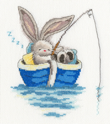 Borduurpakket Bebunni - Gone Fishing - Bothy Threads