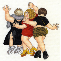 Cross stitch kit Beryl Cook - Girls' Night Out - Bothy Threads