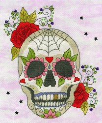 Cross stitch kit Halloween - Sugar Skull - Bothy Threads