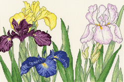 Borduurpakket Iris Blooms - Bothy Threads