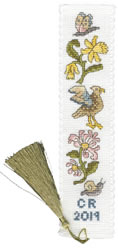 Cross stitch kit Daffodil And Honeysuckle Bookmark - Bothy Threads