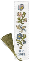 Cross stitch kit Rose And Cornflower Bookmark - Bothy Threads