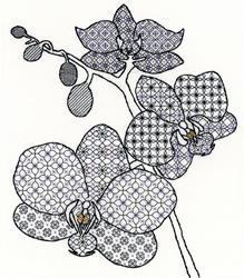 Borduurpakket Blackwork - Orchid - Bothy Threads