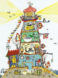 Borduurpakket Cut Thru' - The Lighthouse - Bothy Threads