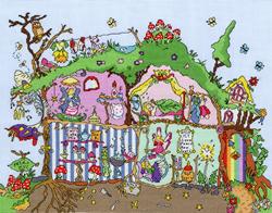Borduurpakket Cut Thru' - Fairy Hill - Bothy Threads