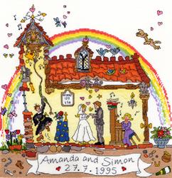 Cross stitch kit Cut Thru'  - Wedding - Bothy Threads