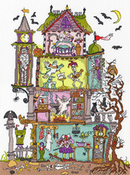 Cross stitch kit Cut Thru' - Haunted House - Bothy Threads