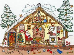 Cross stitch kit Cut Thru' - Christmas Bothy - Bothy Threads