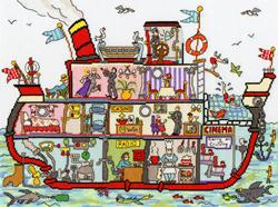 Borduurpakket Cut Thru' Cruise Ship - Bothy Threads