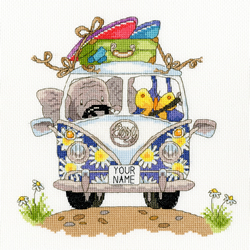 Cross stitch kit Simon Taylor Kielty - Pack Your Trunk - Bothy Threads