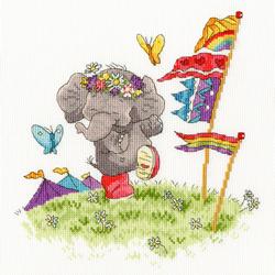 Cross stitch kit Simon Taylor Kielty - Party Animal - Bothy Threads