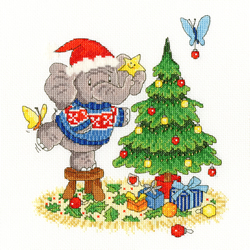 Cross stitch kit Simon Taylor-Kielty - A Merry Elly Christmas - Bothy Threads
