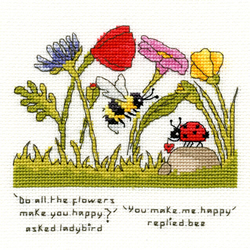 Cross stitch kit Eleanor Teasdale - You Make Me Happy - Bothy Threads