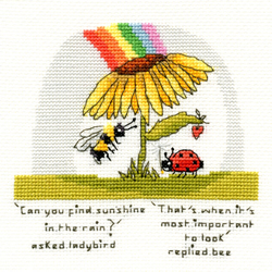 Cross stitch kit Eleanor Teasdale - Finding Sunshine - Bothy Threads