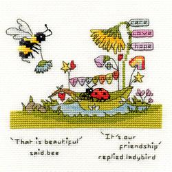 Borduurpakket Eleanor Teasdale - Beautiful Friendship - Bothy Threads