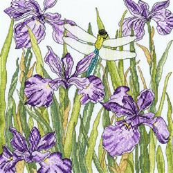 Cross stitch kit Fay Miladowska - Iris Garden - Bothy Threads