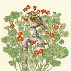 Cross stitch kit Fay Miladowska - Nasturtium Garden - Bothy Threads