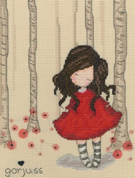 Cross stitch kit Gorjuss - Poppy Wood - Bothy Threads