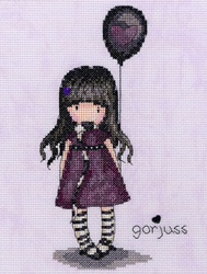 Cross stitch kit Gorjuss - The Balloon - Bothy Threads