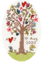Cross stitch kit Kim Anderson - Sweet Tree Card - Bothy Threads