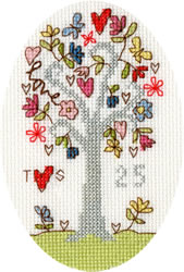 Cross stitch kit Kim Anderson - Silver Celebration - Bothy Threads