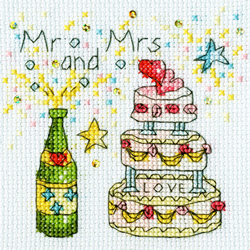 Cross stitch kit Amanda Loverseed - Cheers Card - Bothy Threads