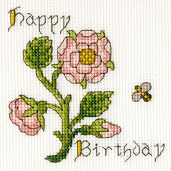 Cross stitch kit Rose Card - Bothy Threads