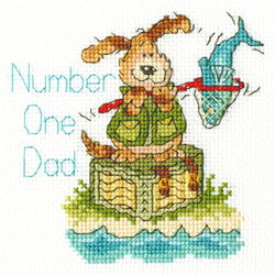 Borduurpakket Margaret Sherry - Number One Dad - Bothy Threads