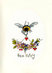 Cross stitch kit Eleanor Teasdale - Bee Happy - Bothy Threads