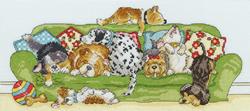 Cross stitch kit Animals - Lazy Dogs - Bothy Threads