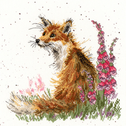 Cross stitch kit Hannah Dale - Amongst the Foxgloves - Bothy Threads