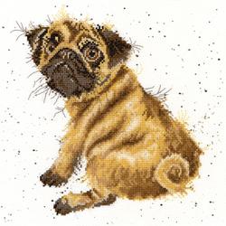 Borduurpakket Hannah Dale - Pug - Bothy Threads