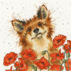 Cross stitch kit Hannah Dale - Poppy Field - Bothy Threads