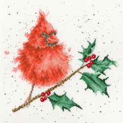 Cross stitch kit Hannah Dale - Festive Feathers - Bothy Threads