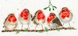 Cross stitch kit Hannah Dale - Rockin' Robins - Bothy Threads